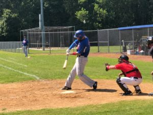 Lance Borman hitting in a CNCMSBL game