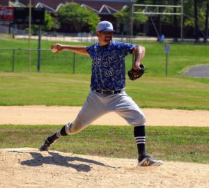 Damon Herbert pitching against the Alamance Giants on 7/26/2020