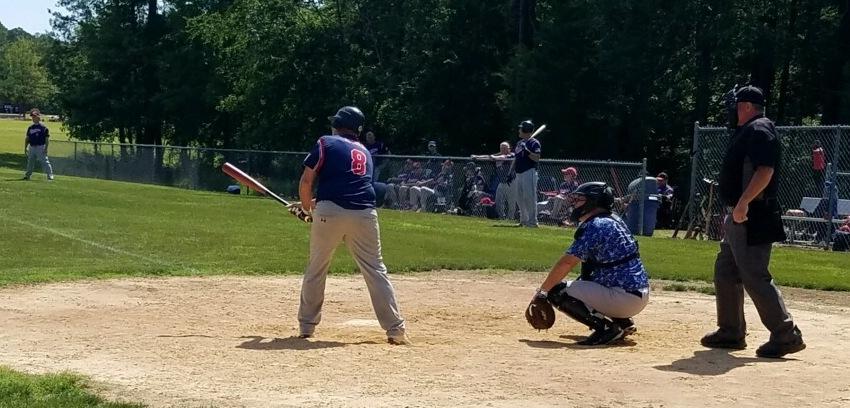 Rob Isbell preparing to bat