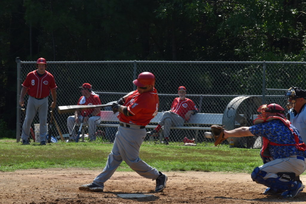 A swinging strike