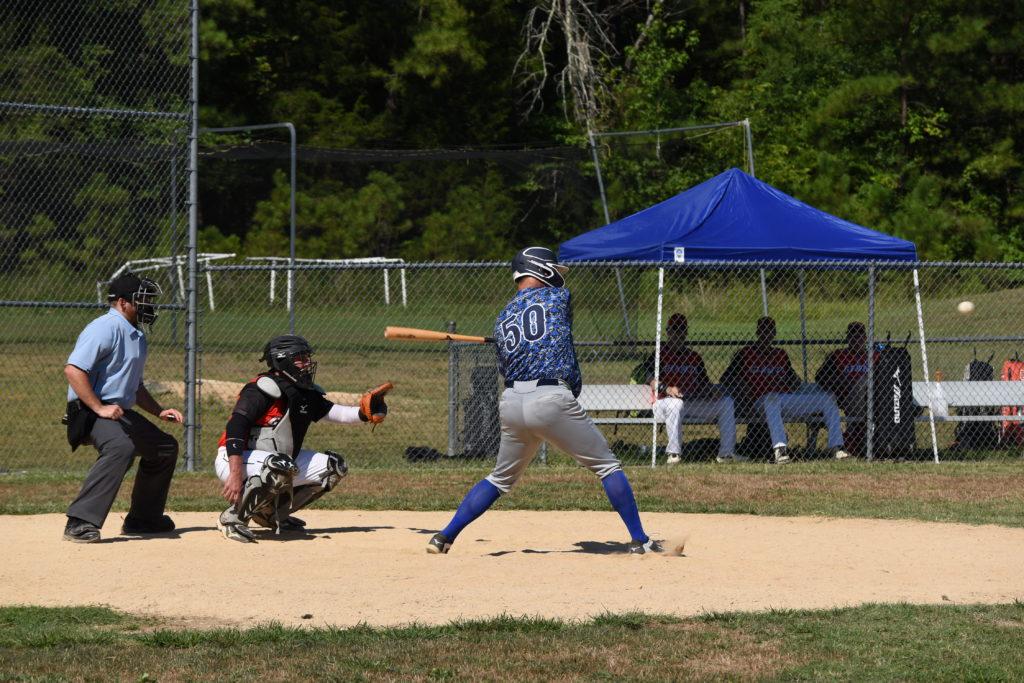 Ken Davidson hitting