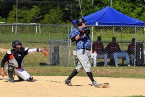 Robb Morrison hitting against the Alamance Giants 7/26/2020