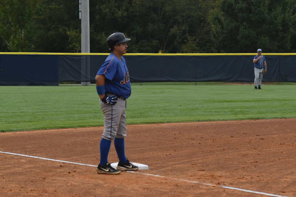 Kevin Grullon at third base against the Raleigh Rebels on 8/22/2020