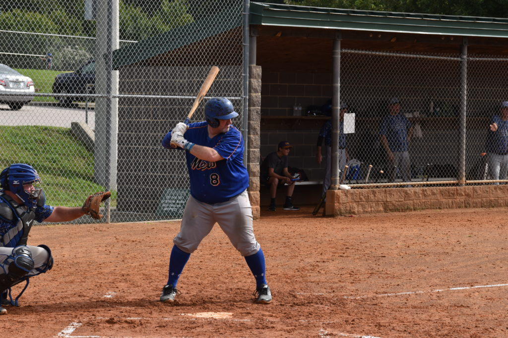 Bill Tallon hitting against the Raleigh Rebels on 8/22/2020