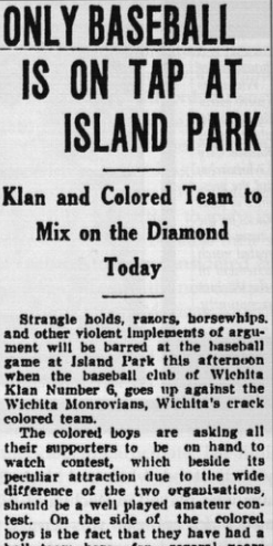 Only Baseball Is On Tap At Island Park newspaper clipping