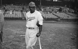 Jackie Robinson at the 1947 World Series