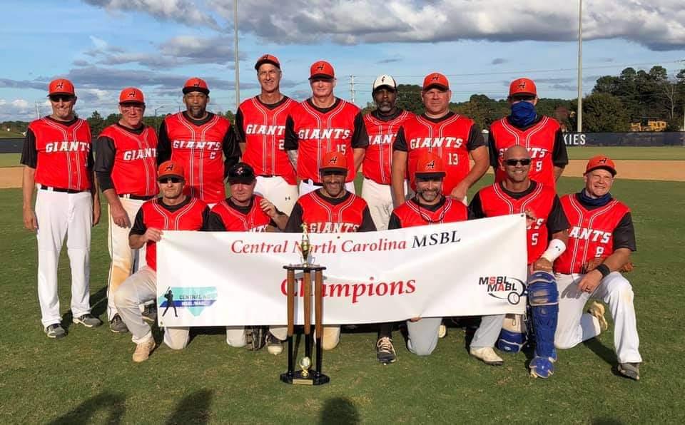 2020 50+ Alamance Giants Championship Team